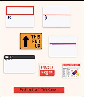 shipping labels stock custom printed data depot inc